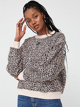 Nike Nike Nsw Animal Print Sweatshirt - Beige Picture