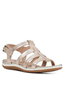 Geox Geox Suede Gladiator Flat Sandal - Sand Picture