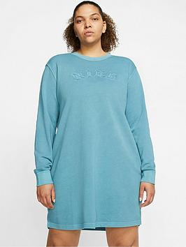 Nike Nike Nsw Wash Sweater Dress (Curve) - Cerulean Picture