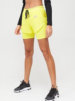 Nike Nike Air Running 2In1 Shorts - Yellow Picture