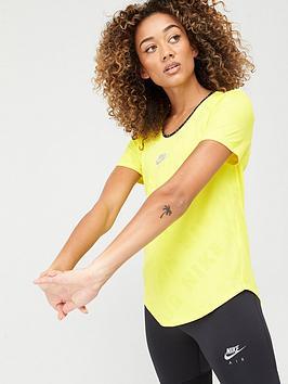 nike-nike-air-running-tee-yellow