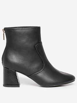 Dorothy Perkins Dorothy Perkins Wide Fit Adda Block Heel Boots - Black Picture