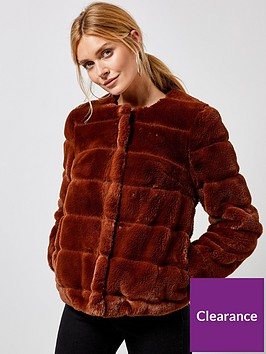 dorothy-perkins-dorothy-perkins-tan-short-faux-fur-jacket