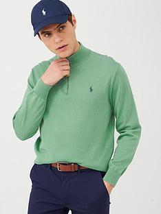 polo-ralph-lauren-golf-pima-half-zip-knitted-jumper-green