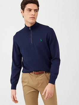 Polo Ralph Lauren Golf Polo Ralph Lauren Golf Pima Half Zip Knitted Jumper  ... Picture