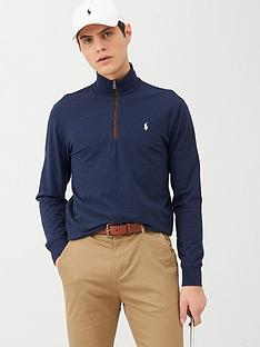polo-ralph-lauren-golf-terry-half-zip-midlayer-top-blue-heather