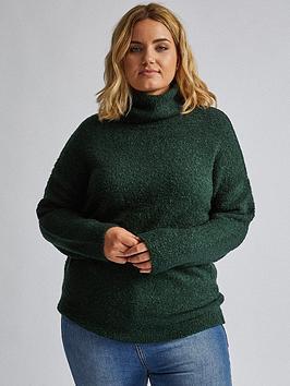 dorothy-perkins-dorothy-perkins-curve-roll-neck-jumper-green