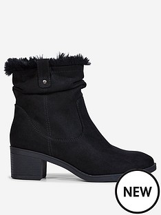 dorothy-perkins-dorothy-perkins-wide-fit-moscow-ruched-boots-black