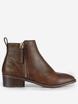 Dorothy Perkins Dorothy Perkins Wide Fit Maren Ankle Boots - Tan Picture