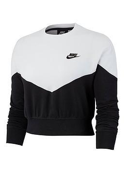 Nike Nike Nsw Heritage Cropped Sweatshirt - Black Picture