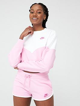 Nike Nike Nsw Heritage Sweatshirt - Pink Picture