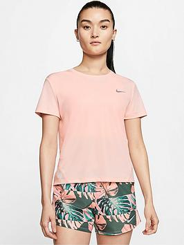 Nike Nike Running Miler T-Shirt - Washed Coral Picture