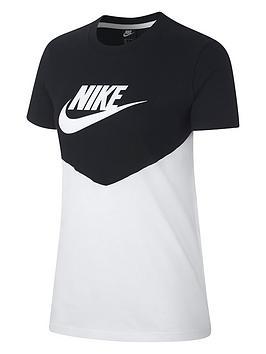 Nike  Nsw Heritage T-Shirt - Black/White