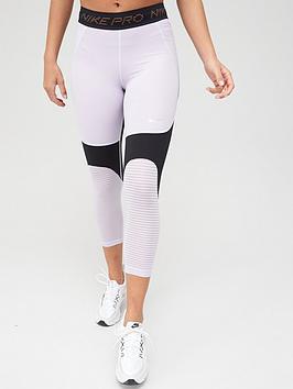 Nike Nike Training Pro Crop Leggings - Lilac Picture