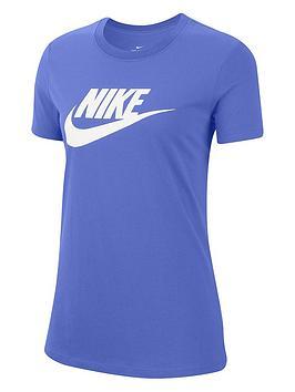 Nike Nsw Essential Icon Futura T-Shirt - Sapphire