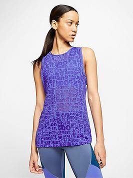 Nike Nike Training Pro Jsut Do It Burnout Tank Top - Violet Picture