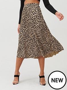 boohoo-boohoo-printed-midi-skater-skirt-leopard