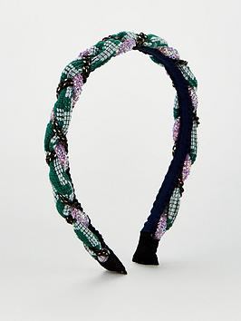 V by Very V By Very Beaded Plait Hair Band - Multi