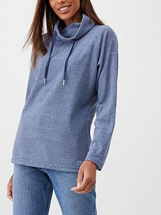 trespass-jeannie-overhead-fleece-hoodie-navy