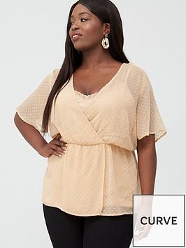 junarose-curve-galika-short-sleeve-wrap-over-blouse-cream