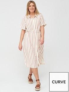 junarose-lila-stripe-short-sleeved-dress-printed