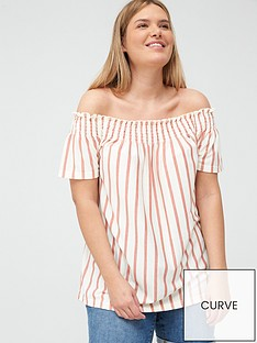 junarose-lila-24-off-the-shoulder-blouse-stripe