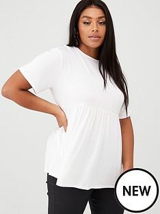 boohoo-plus-boohoo-plus-jersey-frill-hem-smock-top-white