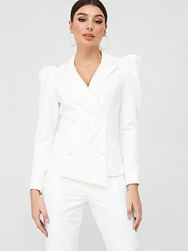 Lavish Alice Lavish Alice Statement Shoulder Tailored Jacket - White Picture