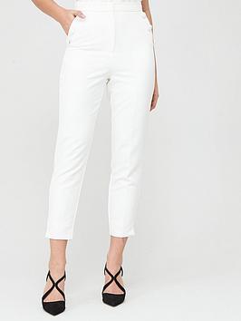 Lavish Alice Lavish Alice Button Detail Tapered Trousers - White Picture