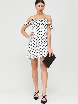 Lavish Alice Lavish Alice Micro Ruffle Corset Mini Dress - White Picture