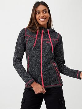 Trespass Trespass Odelia Full Zip Fleece Hoodie - Black/Pink Picture