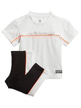 adidas Originals Adidas Originals Infant T-Shirt And Leggings Set - Blue  ... Picture