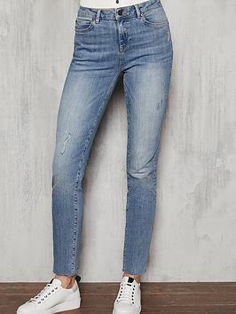 Mint Velvet Mint Velvet Houston Distressed Slim Jeans - Light Indigo Picture