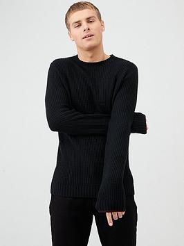 river-island-black-slim-fit-crew-neck-knitted-jumper