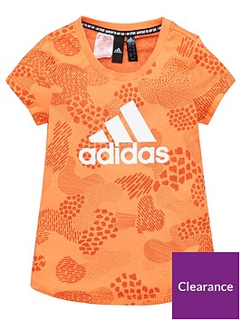 adidas-junior-girlsnbsptee-orange