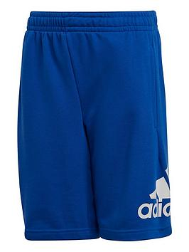 Adidas   Junior Boys Must Haves Badge Of Sport Shorts - Blue