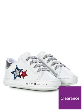 tommy-hilfiger-baby-girls-glitter-flag-lace-up-trainers-white