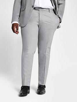 River Island River Island Big And Tall Textured Suit Trousers Picture