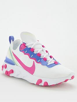 Nike Nike React Element 55 - White/Pink Picture