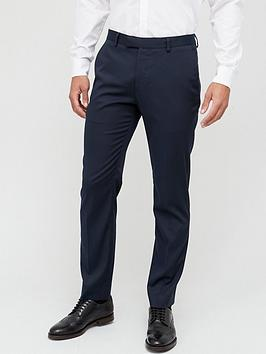 River Island River Island Slim Fit Suit Trousers - Navy Picture
