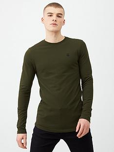 river-island-dark-green-r96-long-sleeve-t-shirt