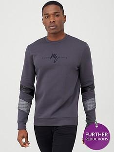 river-island-maison-riviera-grey-blocked-sweatshirt