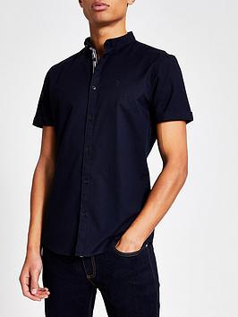 river-island-maison-riviera-slim-fit-oxford-shirt--nbspnavynbsp