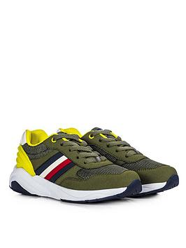 Tommy Hilfiger Tommy Hilfiger Boys Rubber Lace Up Trainers - Khaki Picture