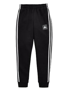 Adidas   Childrens 3 Stripe Pants - Black