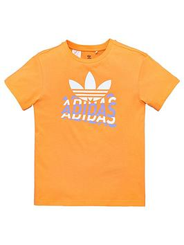 adidas Originals Adidas Originals Graphic Tee - Orange Picture