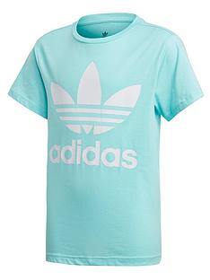 adidas-originals-childrens-trefoil-tee-blue-white