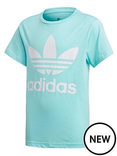adidas-originals-childrens-trefoil-tee-blue-white
