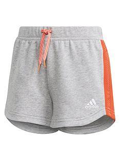 adidas-junior-girls-athletics-bold-short-grey-red