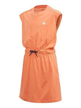 adidas-junior-girlsnbspathleticnbspbold-dress-orange